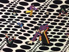 RPD578A The Beatles RARE Psychedelic Dot Yellow Submarine Quilting Cotton Fabric