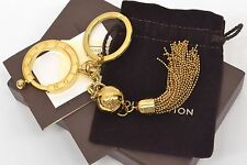 Authentic Louis Vuitton Porte Cles Swing Key Ring Chain Holder Bag Charm LV Gold