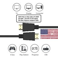 Ultra Slim 1 M Lot High Speed HDMI Cable 2.0 HDTV Ethernet 4K  Set of 1/3/6