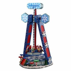 Lemax The Spinning Snowflake Large Animated Building, with 4.5V Adaptor