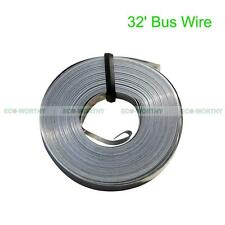 32' Feet Solar Copper Bussing Bus Wire 5mm Width for DIY Connecting Solar Cells
