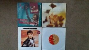 """Cliff Richard - 4 x 7"""" Singles - Shooting From The... , This New Year + 2 others"""