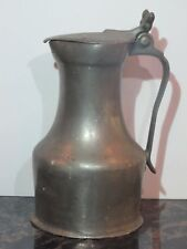 Antique 1L German Beer Stein Flagon with Double Acorn Thumb Lift
