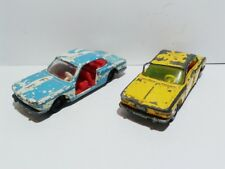 Siku set of 2 BMW 2000 CS V 222 poor condition 1:55 die cast