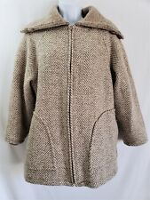 Vintage ALAFOSS ICEWOOL Iceland 100% Pure New Wool Sweater Jacket Size XS