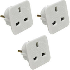 3 x UK to EU Europe Power Adaptor Plug Converter Travel Adapter European 2 Pin