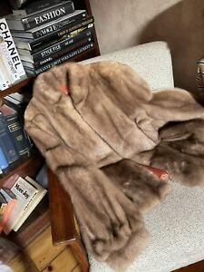Vintage Mint Condition Ladiesne Super Soft Genuine Blonde Beige Mink Jacket Coat