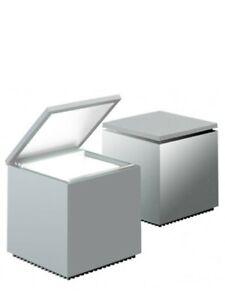 CINI & NILS CUBOLUCE Tischleuchte, Kunststoff silber seidenmatt, sofort, NEUOVP