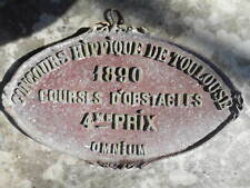 Rare plaque concours hippique Toulouse 1890