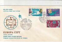 Turkish Federated Cyprus 1979 Europa CEPT Communications FDC Stamps Cover  23585