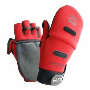 Men Winter Gloves Half Finger Durable Anti-Slip Anti-Cut Waterproof Thick Mitten