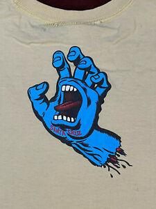 SANTA CRUZ Boys Size XL - EXTRA LARGE T-Shirt YELLOW Screaming hand 2 sided