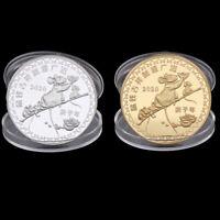 2020 Jahr der Ratte Gedenkmünze Sternzeichen Geld Souvenir Sammlerstück