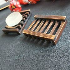 Wood Kitchen Bathroom Shower Sponge Soap Dish Plate Holder Container Shelf    E