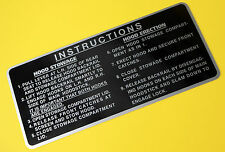 TRIUMPH STAG HOOD STOWAGE INSTRUCTIONS Sun Visor sticker decal, gloss laminated