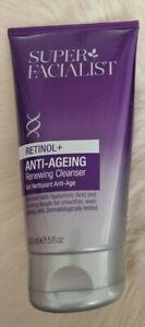 super facialist retinol + anti-ageing renewing cleanser 150ml