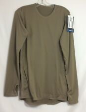 POLARTEC, GEN III LEVEL 1 UNDERSHIRT SILKWEIGHT COYOTE SMALL- LONG NEW WITH TAGS