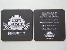 Beer Coaster <> LEFT COAST Brewing Co ~ San Clemente, CALIFORNIA ~><~ Surf Board