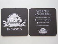 Beer Coaster <> LEFT COAST Brewing Co ~ San Clemente, CALIFORNIA ~><~ Surf Board