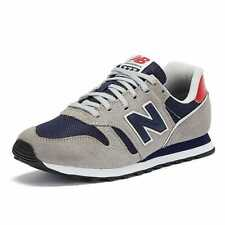 New Balance 373 Mens Grey Navy Red Trainers Sneakers Sports Shoes Comforty Soles