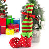 LN_ AM_ Christmas Tree Candy Elf Boot Shoes Dot Stocking Gift Bag Pouch Braw