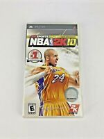 NBA 2K10 Sony PSP 2009 Video Game Complete with Kobe Bryant