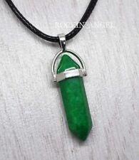 Natural Green Jade Pendulum Choker Necklace Pendant Reiki  Ladies Gift Crystal