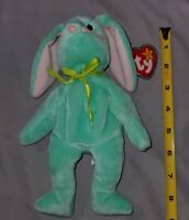 Ty Beanie Babies Hippity  Rabbit green Mint condition with Tag protector Retired
