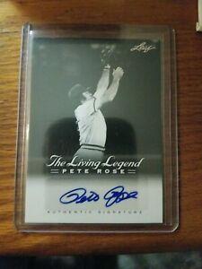 2012 Leaf The Living Legend Pete Rose Autograph Card #AU 15