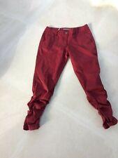 Sandwich - pantalon rouge - bas de pantalon froncé