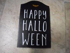 New ! Halloween Decor Sign Tombstone Happy Hallo Halloween October 31