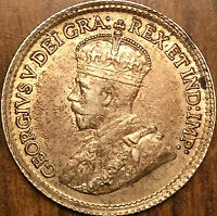 1920 CANADA SILVER 5 CENTS COIN - Excellent example!