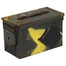 US Munitionskiste Gr. 2 29,5x15,5x18cm Aufbewahrungsbox Militär Kiste braun