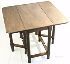 Cotswold School Russell Tiger Oak Drop Leaf Table Arts and Crafts c.1930