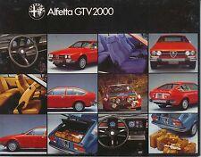ALFA ROMEO ALFETTA GTV 2000 1978-81 ORIGINALE UK SALES BROCHURE PUB N. 782 568