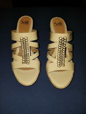 NWT Sofft OFF WHITE Womens Size 11M Open Toe Sandals Wedge Heels~ Retail $59.90