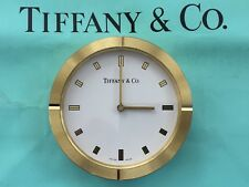 Tiffany & Co Swiss Made Quartz Brass Clock Working.-B152