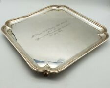 More details for post ww2 british presentation tray - b. h. parker obe dcm - dunkirk connection