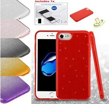 Apple iPhone 5 5s SE Glitter Bling Hybrid Rubber Silicone Hard Case Cover + Kit