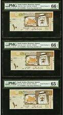 Saudi Arabia 33c 2012 10 Riyals Low Serial 1 to 9 (000001-9) Set 9 Banknotes PMG