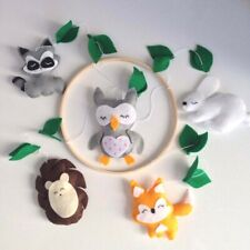 BABY MOBILE WOODLAND Forest animals mobile Crib mobile handmade