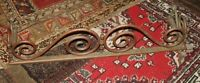 "Antique LARGE 42"" x 12"" Brass Fire Fender Ornate 11"" Tall"