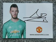 David De Gea Manchester United (Man Utd) Signed Club Card