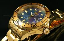 Invicta GRAND DIVER AUTOMATIC Black MOP Dial 18K Gold Plated S.S Bracelet Watch