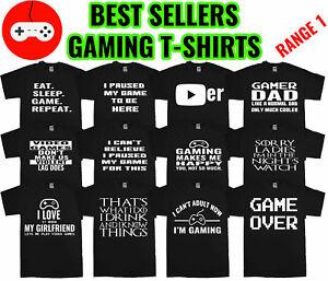 Gaming Mens T-Shirts Funny t shirts Joke t-shirt Birthday Gift Video Game Party