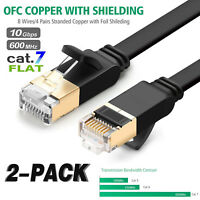 CAT7 Cable Ethernet Lan Network RJ45 Patch Cord Internet Flat Support Cat5e Cat6