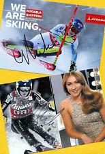 Mikaela shiffrin - 2 top autógrafo imágenes (20) - Print copies + ski ak firmado