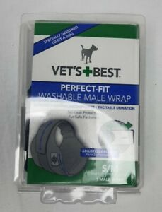 """New Vet's Best Perfect Fit Washable Male Wrap Small/Med 15-23"""""""