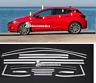 Opel Astra K  cornici profili superiore finestrini raschiavetri acciaio cromo