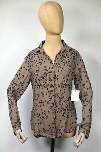 NEU Bella Dahl Bluse Hemd Top Hipster Shirt Button Down Leopard Braun Gr.S (159)
